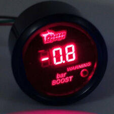 "2"" 52mm Black Car Digital Red LED Light Bar Turbo Boost LED Gauge Meter"