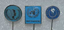 UN United Nations vintage political lapel stick pin badge Anstecknadel lot
