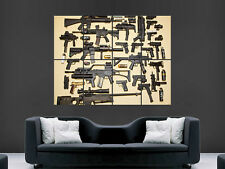 SNIPER GUNS AUTOMATIC WEAPONS  WALL POSTER ART PICTURE PRINT LARGE