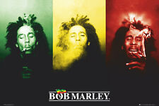 BOB MARLEY - FLAG SMOKING - MUSIC POSTER - 24x36 - WEED MARIJUANA POT 8701