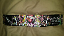 Ed Hardy Panther and Skull Thick Wrist Band