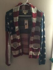NWT Ralph Lauren Denim & Supply American Flag Sweater Cardigan S Small