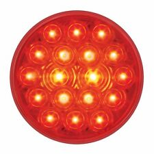 """4"""" RED (18 LED) S/T/T Lights w/ Grommets -  (FOUR each) SEMI TRUCK"""