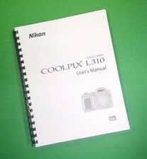 COLOR LASER PRINTED  Nikon Coolpix L310 Manual Guide 164 Pages FREE SHIPPING