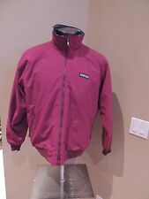 Men's Lands' End Classic Maroon Full Zip Up Squall Jacket Camping Hiking