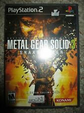 Metal Gear Solid 3: Snake Eater  (Sony PlayStation 2, 2004) PS2 Complete