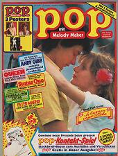 POP mit Melody Maker Nr. 11/78 1978 mit allen Postern und Kontakt Spiel