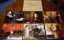 6 photos d'exploitation film Mémoires d'une geisha (Rob Marshall) lobby cards