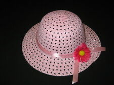 """NEW """"LIGHT PINK DAISY"""" Dress Up Party Girls Easter Straw Hat Clothes Toddler Tea"""