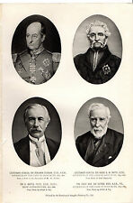 BOER WAR PORTRAITS - D'URBAN, SMITH, FRERE & GREY- FROM THE TIMES HISTORY (1900)