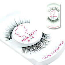 Miss Adoro False Eyelashes 100% Human Hair #74 / USA SELLER