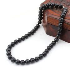 Black Bianshi Jade Banichi Black Stone Necklace Carve Sibin Bian Chain Jewelry