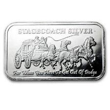 1 once Argent 999 Lingot d'argent Stagecoach Diligence Divisible dans 4 x 1/4