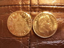 piece 20 franc or monnaie napoléon copie lot de 2