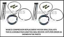 WABCO AIR SUSPENSION COMPRESSOR SEAL DOUBLE PACK AUDI BMW JAGUAR RANGE ROVER VW
