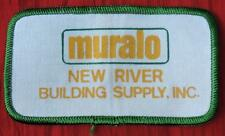 HTF VINTAGE 1980's MURALO - NEW RIVER BUILDING SUPPLY INC SHIRT/JACKET/HAT PATCH