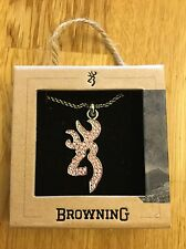 Browning Bling Buck Charm Necklace