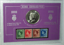 Edward VIII Abdication (Wallis Simpson) 1936 Pattern Crown Coin & Stamp Gift Set