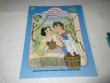 Vintage Disneys Snow White Paper Dolls Uncut