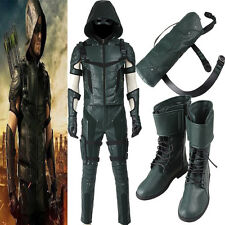 Top Grade Green Arrow Season 4 Oliver Queen Cosplay Costume Any Size Full Suit