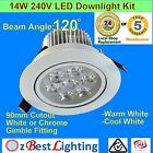 6 x 14W 240V 120°Beam Angle LED Downlight Kit- Warm, Daylight or Cool White