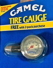 RARE Vintage 91 Joe CAMEL TIRE PRESSURE GAUGE. Heavy Metal & Glass. NEW in PKG