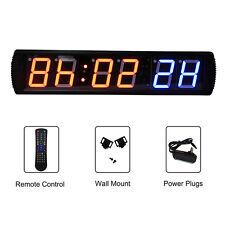"""6-Digital Crossfit Interval Timer Wall Clock w/Remote Training Garage WOD 28""""x6"""""""
