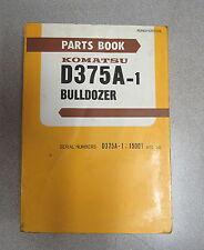 Komatsu D375A-1 Bulldozer Parts Manual PEPB01970100 S/N 15001-UP