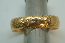 ANTIQUE VICTORIAN JEWELRY HINGED CUFF BRACELET GOLD FILLED 1/10 14K 7.5in 40GRAM
