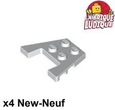 Lego - 4x Aile Wedge plate 3x4 stud notches blanc/white 48183 NEUF