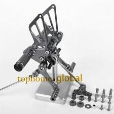 Titanium CNC Adjusting Rearset Footpegs Rear Set For Ducati 848 1098 1198 R/S