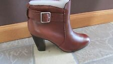 NEW LIZ CLAIBORNE LC HARRY ANKLE BOOTIES BOOTS WOMENS 7.5 BROWN/TAN LEATHER