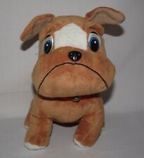 Plush Appeal Mardi Gras BullDog Dog Stuffed Animal Toy Jingle Bell Collar Frown