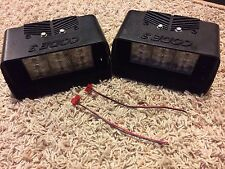 Code 3 Deckblaster housing w/ Federal Signal Cuda LED head; Decklight light pair
