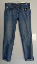 GAP Boyfriend Fit Distressed Jeans Size 6/28A 33 X 26 Cotton Blend
