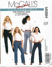 MCCALL'S SEWING PATTERN 5894 WOMENS SZ 18W-24W CLASSIC FIT JEANS - PLUS SIZES