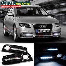 Coppia Luci Diurne LED Daytime Fari DRL Per Audi A4 A4L B8 4D 2009 2010 2011