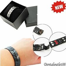 Titanium Magnetic Energy Germanium Armband  Bracelet Health Bio 4in1 man