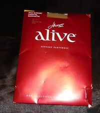 Hanes Alive Women's Full Support Control Top Pantyhose Size C Simply Natural