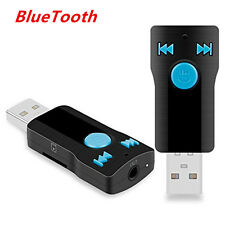 3in1 Car/Home USB Bluetooth Receiver Adapter 3.5mm For Stereo Audio Mp3 Speaker