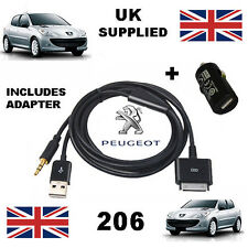 Peugeot 206 iPhone iPod 3.5mm Cable Usb Y Aux Reemplazo y Cargador USB