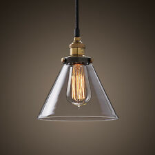 Retro Vintage Industrial Pendant Glass Ceiling Chandelier Light Lamp With a Bulb
