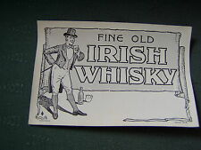 VINTAGE FINE OLD IRISH WHISKY WHISKEY LABEL - TYPE 2