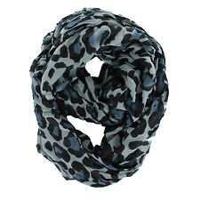 "NEW WOMEN'S FASHION STYLISH LEOPARD ANIMAL PRINT INFINITY LOOP SCARF 37"" BY 70"""