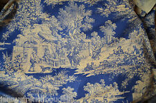 antique French pure cotton toile de Jouy type fabric