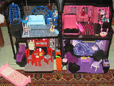 OOAK Monster High Dollhouse Playset Furniture Accessories Xmas Toy Lot