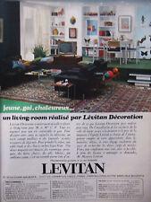 PUBLICITÉ 1967 UN LIVING-ROOM RÉALISÉ PAR LEVITAN DÉCORATION - ADVERTISING