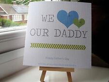 Fatto a mano personalizzato GESTA padri Giorno Compleanno Carta DAD DADDY Grandad ZIO