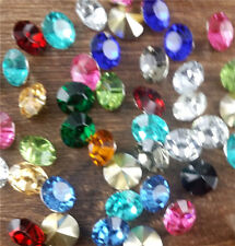30Pcs8mm High quality Mix Crystal beads Point back Rhinestones Resin Chatons