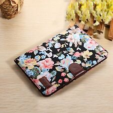 Floral Flip Leather Wallet Cover Case For Apple ipad mini 2 Retina BK